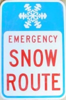 Snow Route Sign