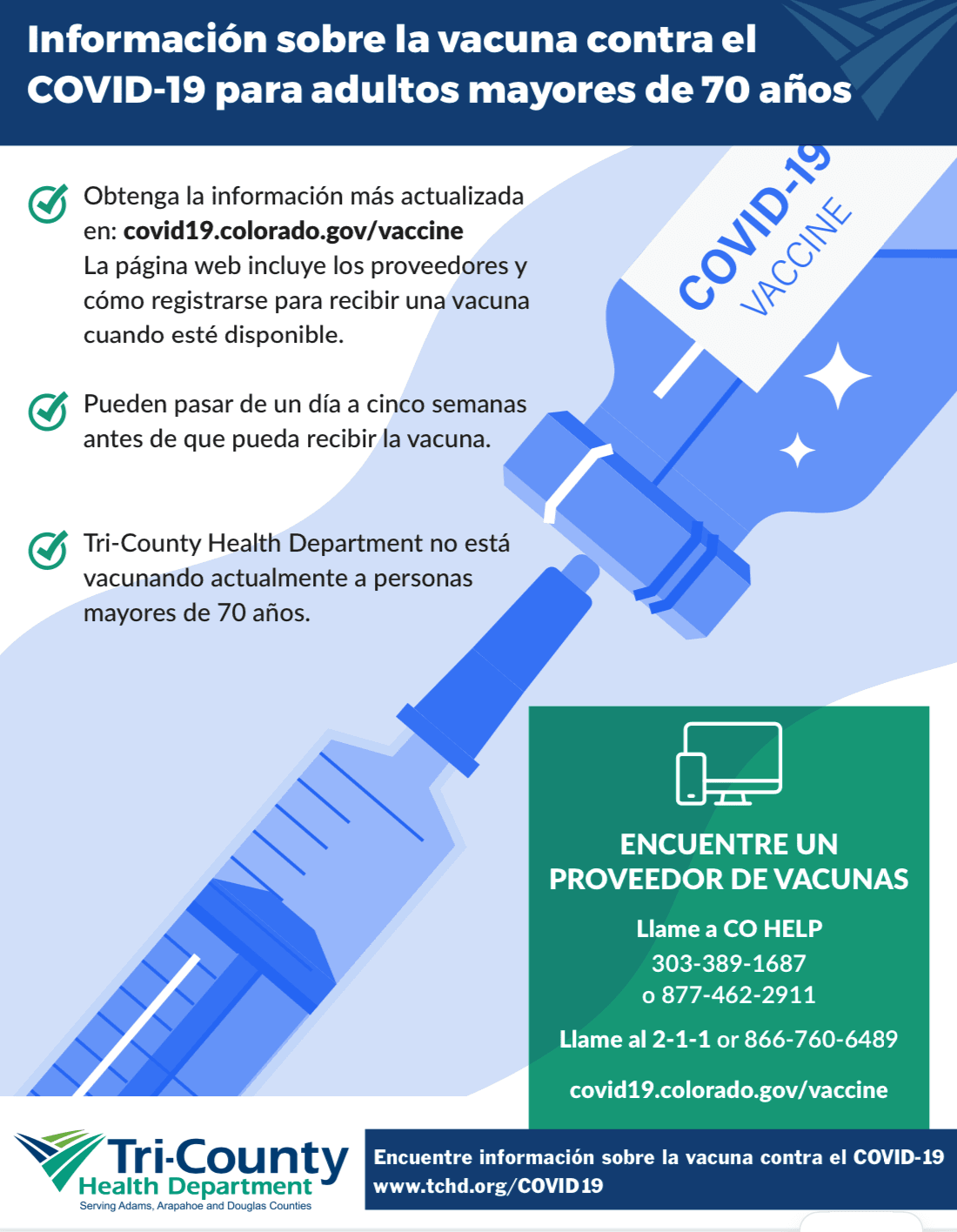 Vaccine for Adults 70 and Older (spanish)